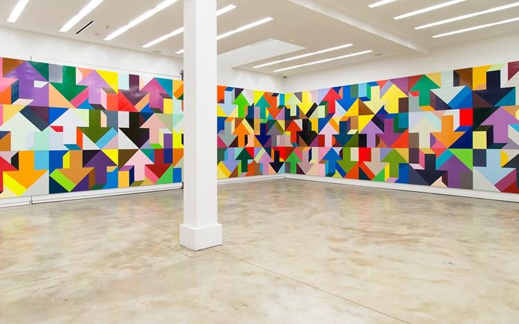 Exhibition view: Tony Tasset, Me And My Arrow, Kavi Gupta, Elizabeth St, Chicago (18 March–14 May 2016). Courtesy Kavi Gupta, Chicago.