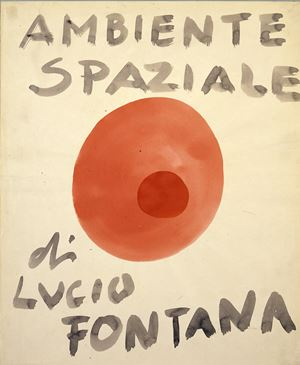 Ambiente spaziale [Spatial Environment] by Lucio Fontana contemporary artwork painting, works on paper