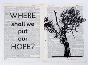 Drawing for Sibyl (Where shall we put our hope?) by William Kentridge contemporary artwork