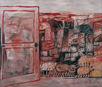 Entrance by Philip Guston contemporary artwork painting