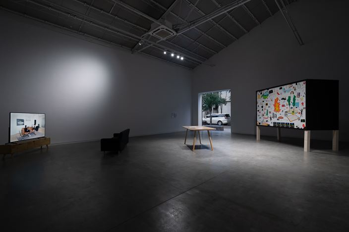 Exhibition view: Lin Aojie, Designers Have A Future only When They Treat Artworks as Initial Inspiration,ShanghART, Westbund,Shanghai (6 November–20 December 2019).CourtesyShanghART.