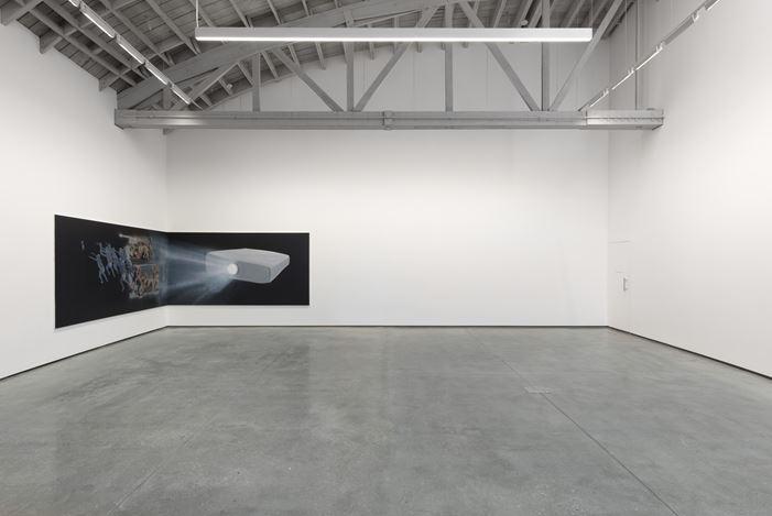 Exhibition view: Tala Madani,Shit Moms, David Kordansky Gallery, Los Angeles (7 September—19 October 2019). Courtesy David Kordansky Gallery. Photo: Jeff McLane.