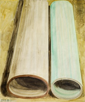 Two Color Tubes by Zhang Enli contemporary artwork