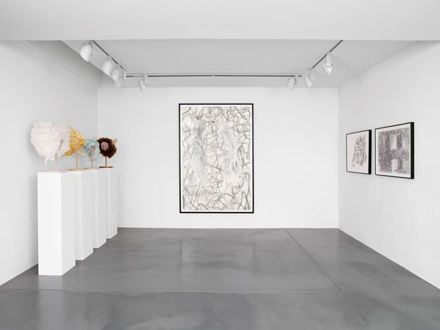 Exhibition view: Jim Shaw,Drawings,Simon Lee Gallery, London (8 February–8 March 2018). Courtesy the artist and Simon Lee Gallery, London / Hong Kong.