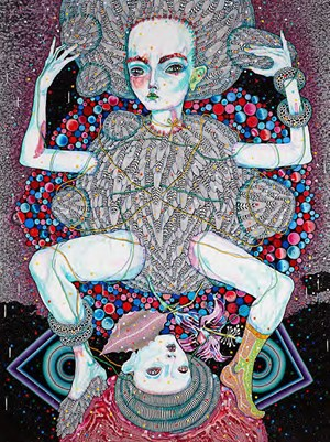 in the face of cosmic odds by Del Kathryn Barton contemporary artwork
