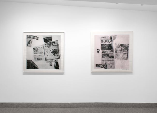 Exhibition view: Robert Rauschenberg, Features, Krakow Witkin Gallery (12 May–23 June 2018). Courtesy Krakow Witkin Gallery.