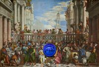 Gazing Ball (Veronese The Wedding at Cana) by Jeff Koons contemporary artwork painting, sculpture