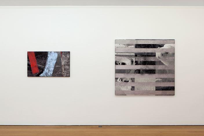 Exhibition view: Goshka Macuga, Natural Transformation,Galerie Rüdiger Schöttle, Munich (4 December 2020–20 February 2021).Courtesy Galerie Rüdiger Schöttle. Photo: Wilfried Petzi.