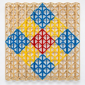 Red Square Breaking into Primary Colours by Rasheed Araeen contemporary artwork