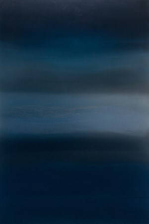 Dark Indigo Silver by Miya Ando contemporary artwork