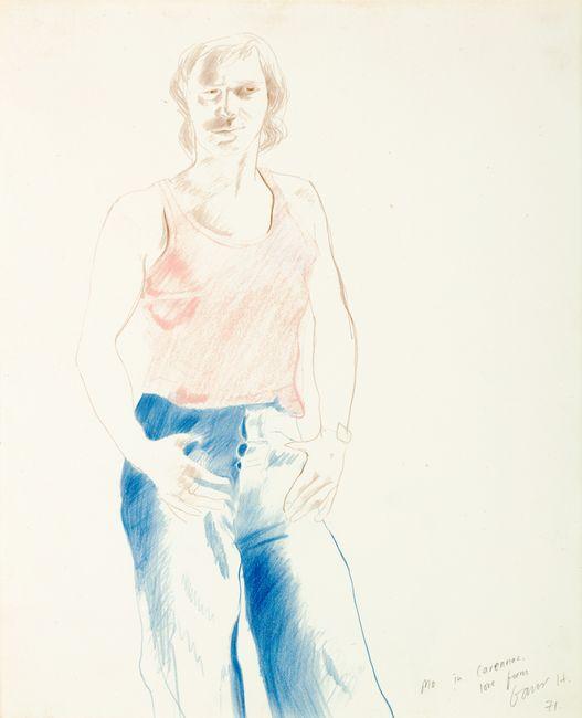 Mo in Carennac by David Hockney contemporary artwork