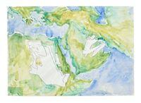 Tuet Einkehr in der Wüste (Withdrawal in the Desert) by Maria Lassnig contemporary artwork painting, works on paper