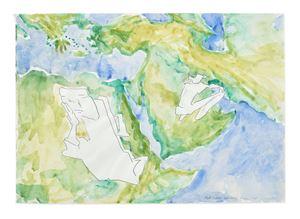 Tuet Einkehr in der Wüste (Withdrawal in the Desert) by Maria Lassnig contemporary artwork