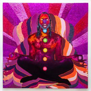 Chakra Chart II by Devan Shimoyama contemporary artwork