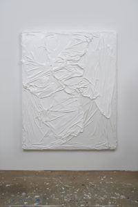 Untitled (White on White #3) by Huseyin Sami contemporary artwork works on paper, sculpture
