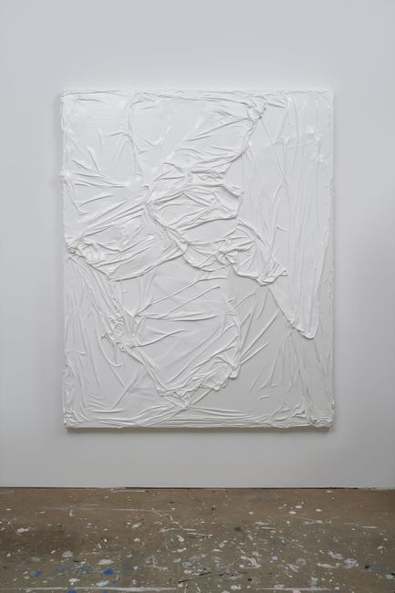 Untitled (White on White #3) by Huseyin Sami contemporary artwork