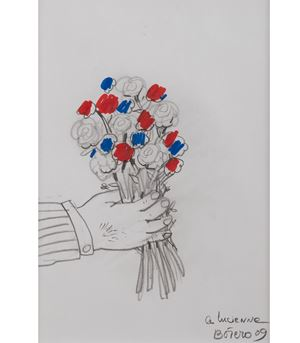Bouquet de fleurs by Fernando Botero contemporary artwork