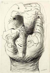Idea for Sculpture: Head by Henry Moore contemporary artwork works on paper, drawing