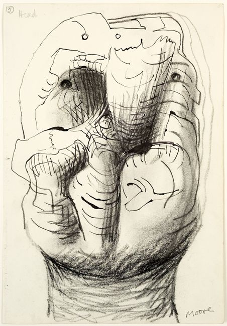 Idea for Sculpture: Head by Henry Moore contemporary artwork