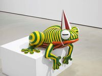 Kobe Frog by Florentijn Hofman contemporary artwork sculpture