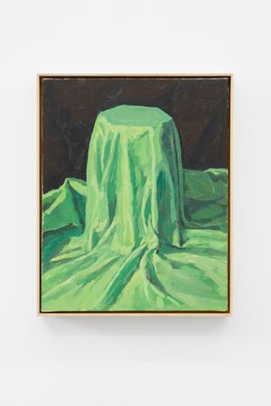 The laster underneath the Green Cloth by Ge Yulu contemporary artwork painting, sculpture