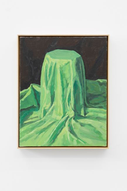 The laster underneath the Green Cloth by Ge Yulu contemporary artwork