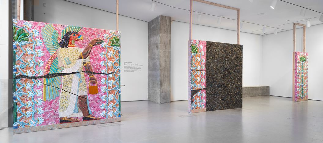 Exhibition view: Michael Rakowitz, The invisible enemy should not exist (Room F, section 1, Northwest Palace of Nimrud), Jane Lombard Gallery, New York (9 January–22 February 2019). Courtesy Jane Lombard Gallery.