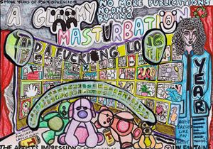 A Gloomy Masturbation and A Fucking Long Year by Liv Fontaine contemporary artwork