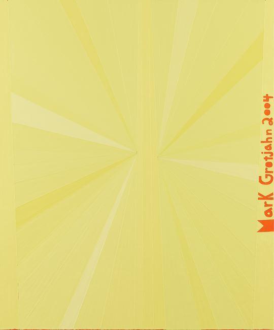 Untitled (Yellow Butterfly Orange Mark Grotjahn 2004) by Mark Grotjahn contemporary artwork