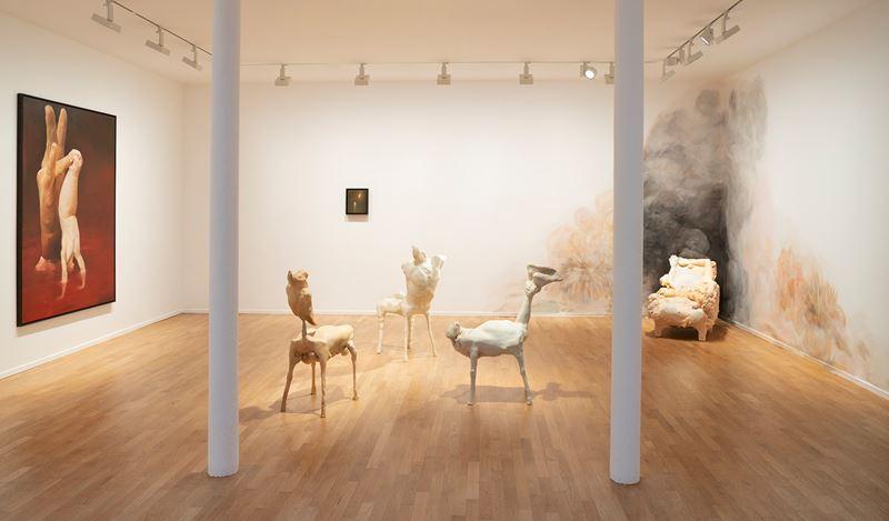 Exhibition view: Oda Jaune,Beyond Gravity, Templon, 30 Rue Beaubourg, Paris (26 October–21 December 2019). Courtesy Templon Paris-Brussels. Photo:Bertrand Huet Tutti.