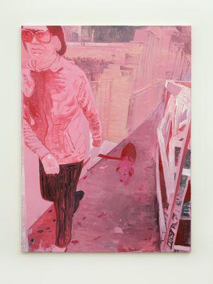 Señora rosa y perro by Valentina Liernur contemporary artwork painting