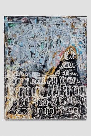 I finally touched the sky by Mark Bradford contemporary artwork mixed media