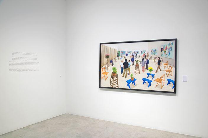 Exhibition view: David Hockney, Afternoon Swimming, STPI, Singapore (1 July–9 September 2017). Courtesy STPI, Singapore.