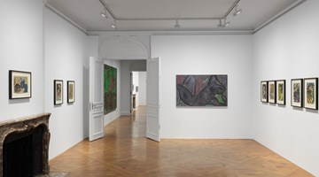 Contemporary art exhibition, Chris Ofili, Dangerous Liaisons at David Zwirner, 69th Street, New York
