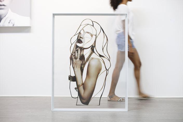 Javier Martin, Cut simply (2014). Cut photo paper on plexiglass, 120 x 93 x 4cm. Courtesy Masahiro Maki Gallery.