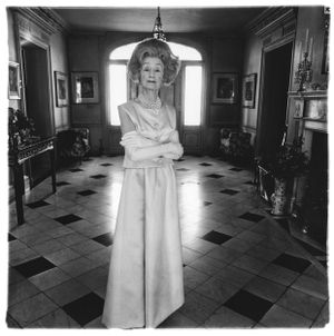 Mrs. T. Charlton Henry in an evening gown, Philadelphia, Pa. 1965 by Diane Arbus contemporary artwork