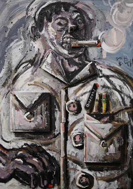 Bullets in my pocket by Bae Yoon Hwan contemporary artwork