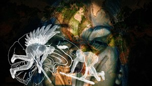 My hope is the last breath. My hope is the first battle. by Nalini Malani contemporary artwork