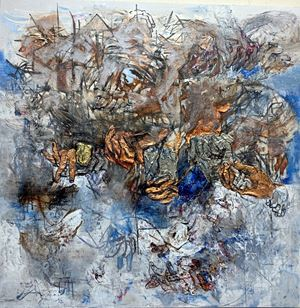 Hand in Hand, Unity as One Hand by Zakir Salam contemporary artwork