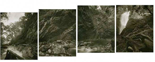 Cook's Sites 21.5.1995 After William Hodges' 'Cascade Cove, Dusky Bay' by Mark Adams contemporary artwork