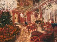 Melancholic Interior (The Revolutionary Saloon) by Ioana Batranu contemporary artwork painting