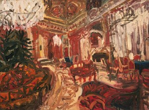 Melancholic Interior (The Revolutionary Saloon) by Ioana Batranu contemporary artwork