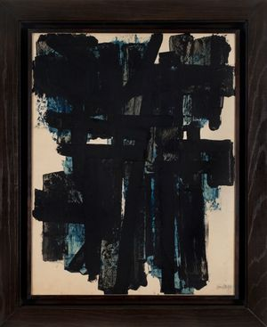 Gouache 65 x 50 cm, 1951 by Pierre Soulages contemporary artwork