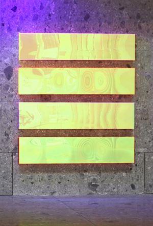 Colormirror Rainbow Texture Otterndorf by Regine Schumann contemporary artwork