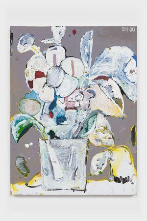 BAP Flower 2 (Bird Ghost) by Eddie Martinez contemporary artwork