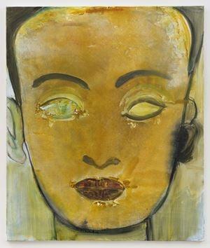 Nefertiti by Marlene Dumas contemporary artwork painting, works on paper