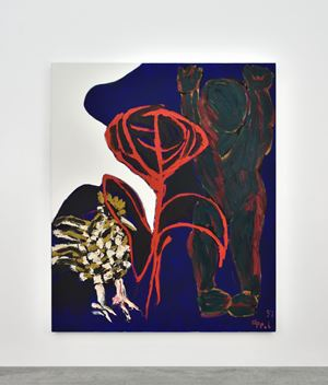 Red Flower by Karel Appel contemporary artwork
