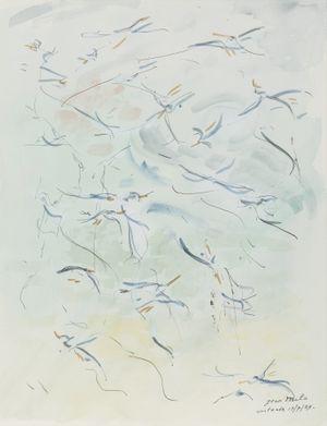 Mouettes I by Jean Milo contemporary artwork