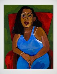 Portrait of my cousin GF: Dana Gallegos by Henry Taylor contemporary artwork painting