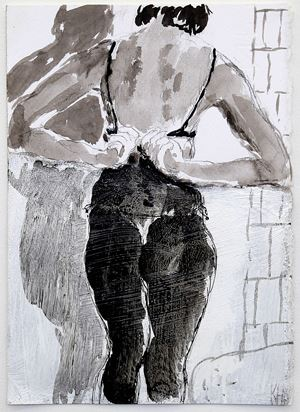 T.S. drawing #4 by Kristin Hollis contemporary artwork